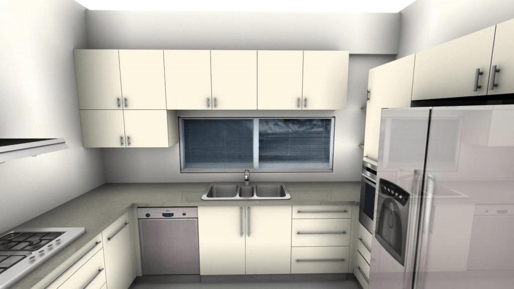 סקיצה של עיצוב מטבח