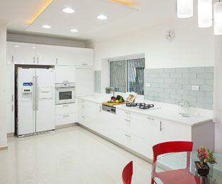 מטבח לבן מודרני - יעל ואיתן